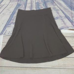 Athleta brown wrap skirt size medium
